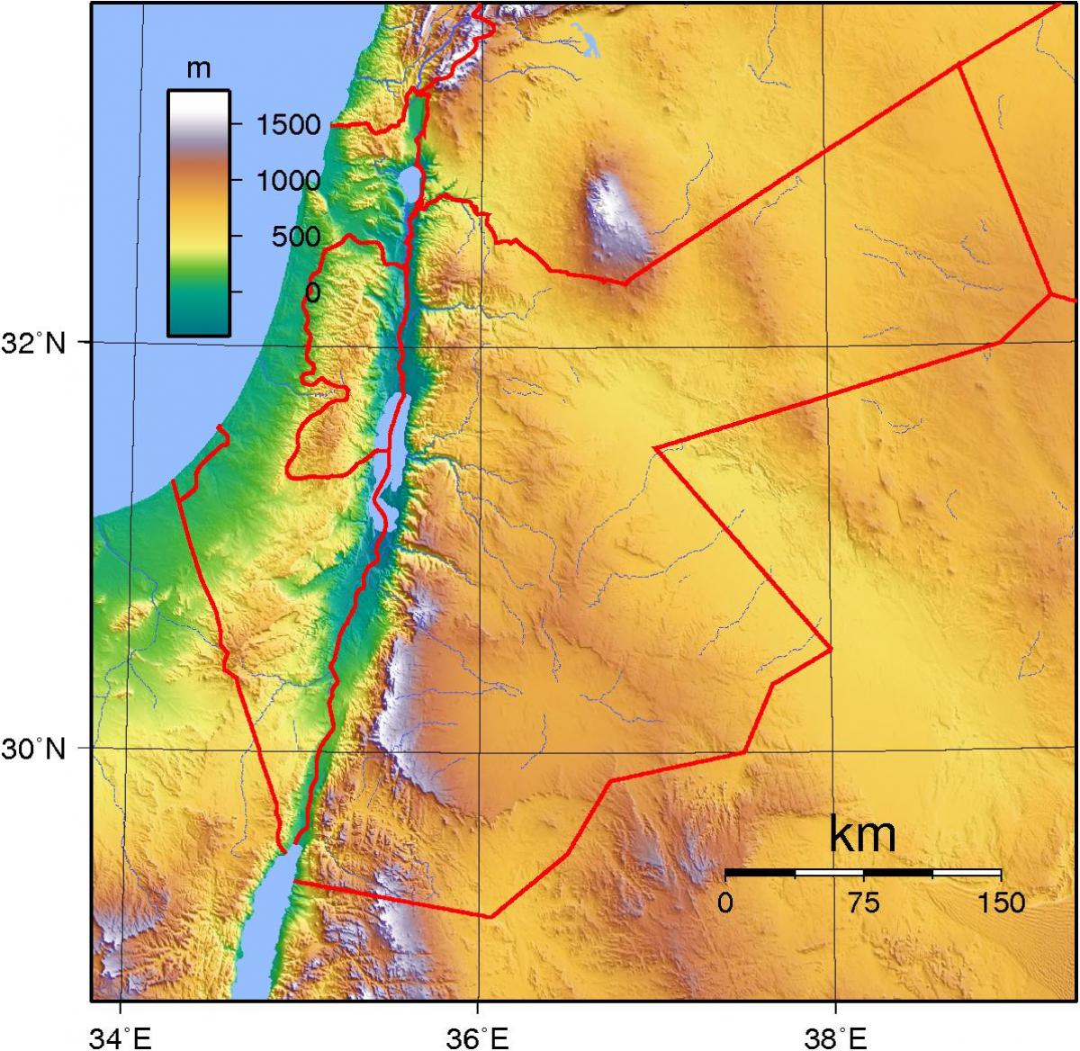 Topographic Map Asia.Jordan Topographic Map Map Of Jordan Topographic Western Asia Asia
