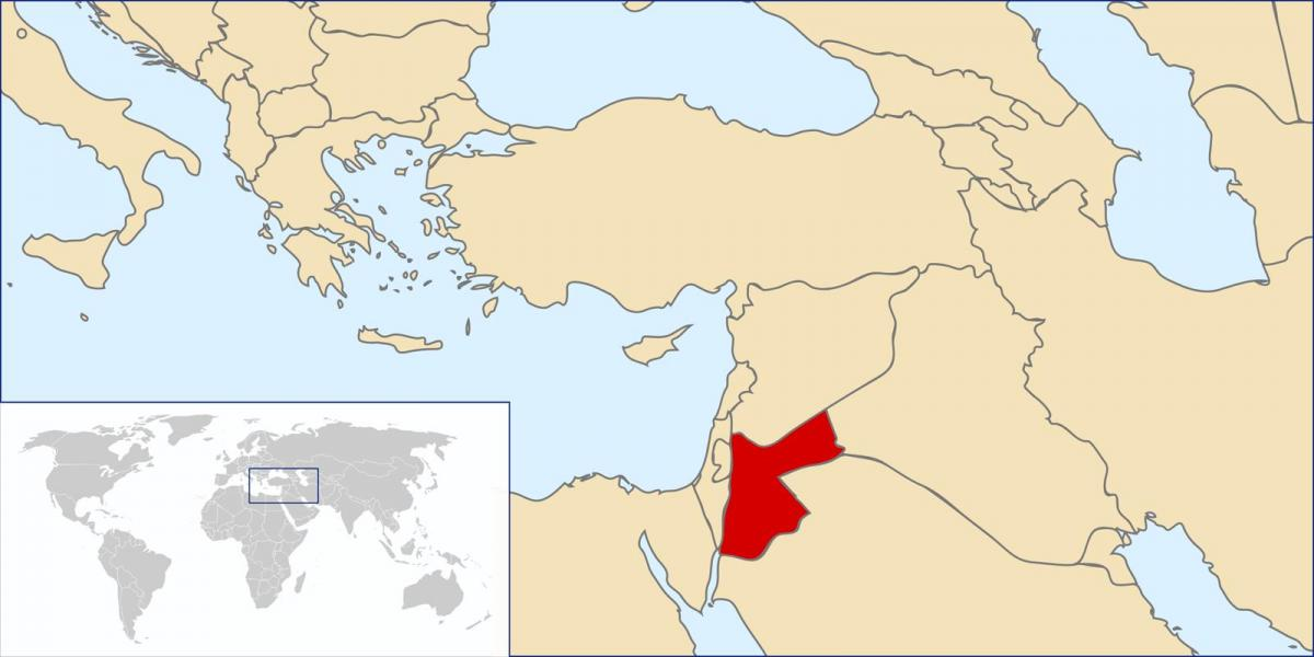 Jordan in the world map