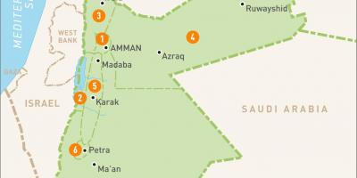 Amman Jordan on map