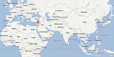 Jordan country in world map - Jordan location on world map ...