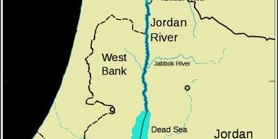 Jordan river middle east map