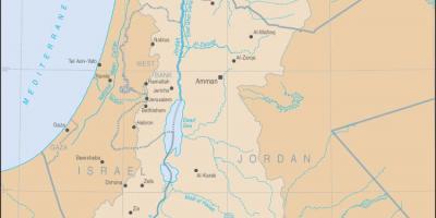 Jordan River Middle East Map.Jordan River Map Jordan River Middle East Map Western Asia Asia