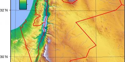 Map of Jordan topographic