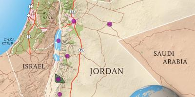 Kingdom of Jordan map